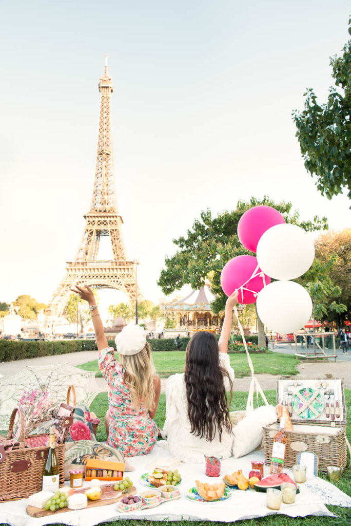 Paris-eiffel tower picnic
